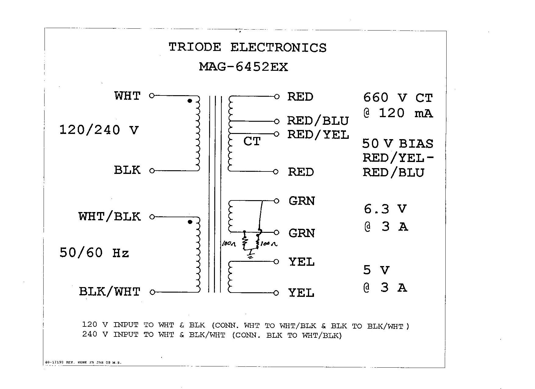 MAG 6452EXP 5e3 build problem transformer wiring schematic at gsmx.co